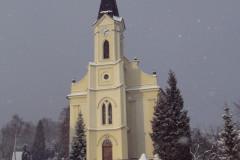 Kostel ve vánici